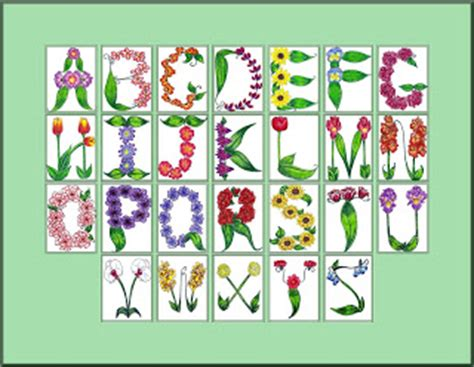 printable alphabet letters with flowers always adorable in action flower alphabet print now available