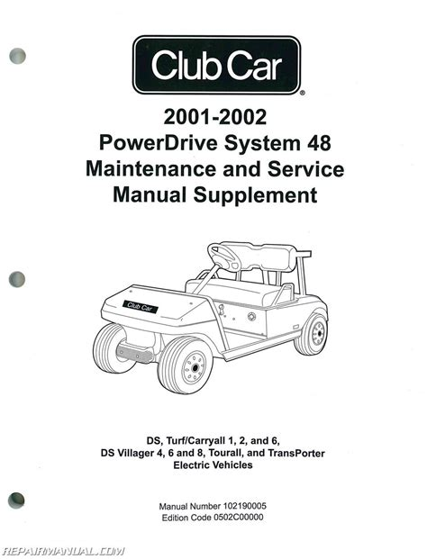 service manual car owners manuals for sale 2002 pontiac grand prix engine control service 2001 2002 club car powerdrive system 48 maintenance and service manual supplement