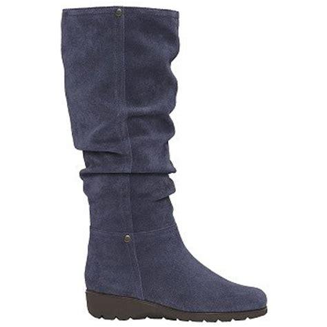 s boots aerosoles s supersonic blue suede
