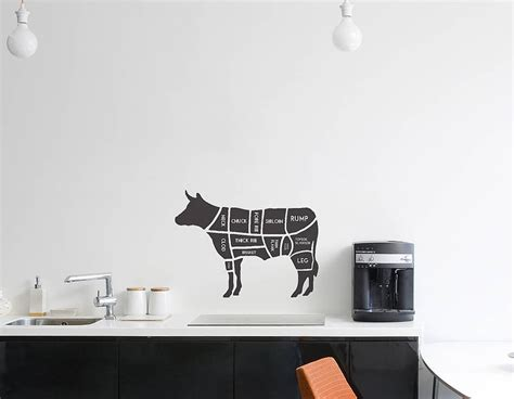 cow wall stickers butchers cow wall sticker contemporary wall stickers