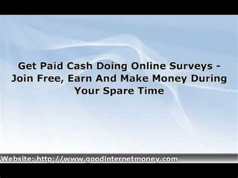 Get Money For Surveys Free - earn money for taking survey get paid with free surveys