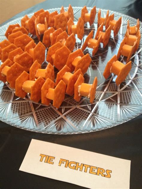themed food events star wars party snacks tie fighters cheese cream