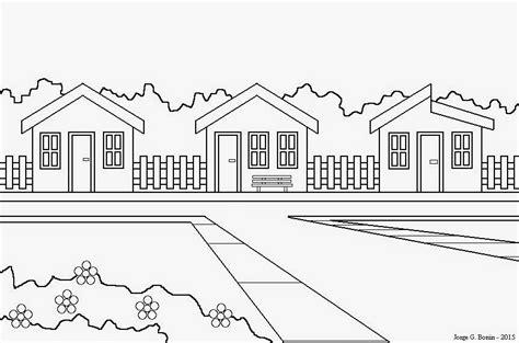 desenho de casas arte no paint desenho para colorir casas
