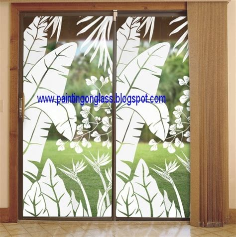 Sliding Glass Door Decor Sliding Glass Doors Can Be Decorated Painting On Glass