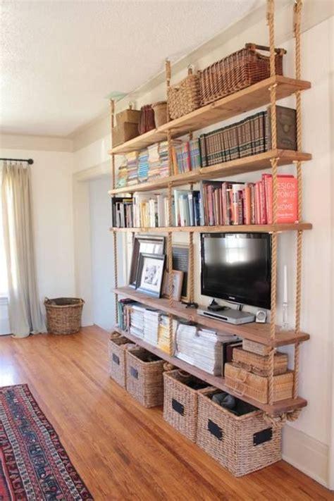 estantes colgantes estanter 237 as colgantes diy con cuerdas y madera decomanitas