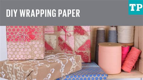 Make Wrapping Paper - how to make wrapping paper
