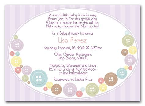 Shower Invitations by Baby Shower Invitation As A Button