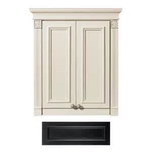 lowes bathroom cabinets wall shop architectural bath tuscany wall cabinet common 24