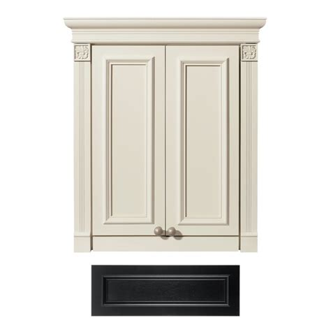 lowes cabinets bathroom shop architectural bath tuscany wall cabinet common 24