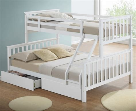 bunk beds with drawers maxi white sleeper bunk bed with storage drawers