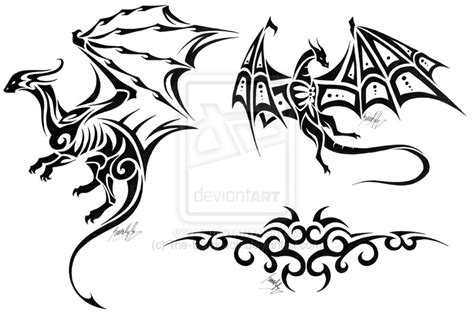 flying dragon tattoo designs flying tribal design