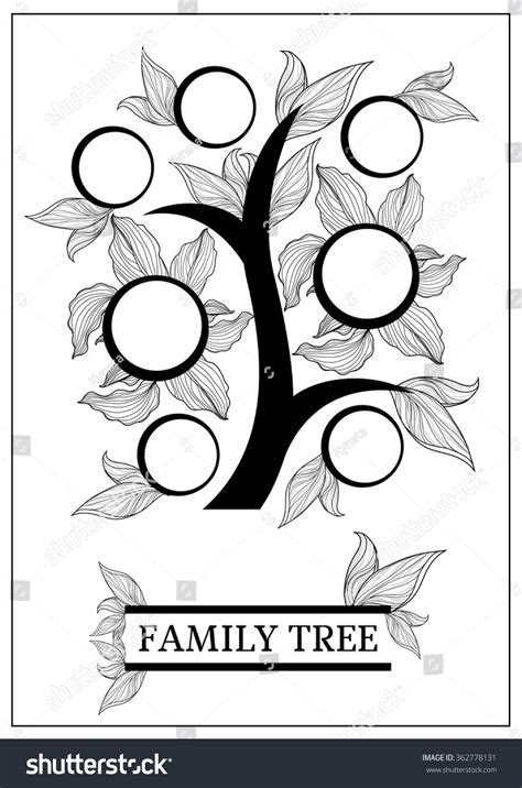Vector Family Tree Design Frames Autumn Stock Vector 362778131 Shutterstock Vector Family Tree Design With Frames And Autumn Leafs Place For Text