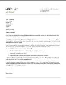 Cover Letter Sales Manager by Sales Manager Cv Exle Free Cv Template Sales