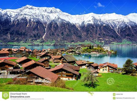 lade thun lac thun suisse photo stock image 55650785