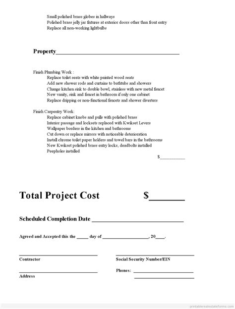 subcontractor agreement0004 187 printable real estate forms