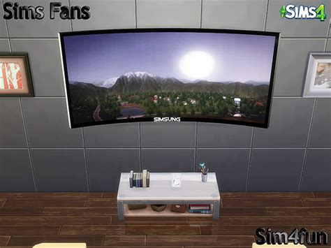 sims 4 electronics downloads sims 4 updates simsung hd 4k curved tv by sim4fun at sims fans 187 sims 4