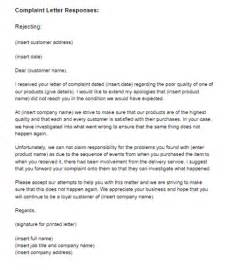 Complaint Letter Sle And Reply Complaint Letter Template