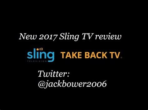 sling tv  review atjackbower youtube