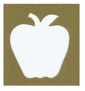 apple stencil 5 for 2 00 40c each frame picking autumn