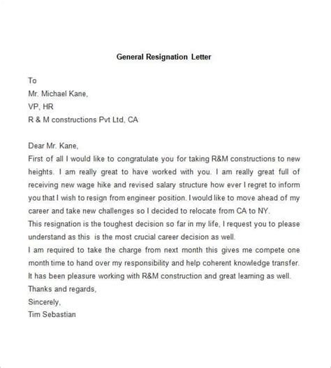 Exles Letters Of Resignation by 31 Resignation Letter Template Word Pdf Ipages Free
