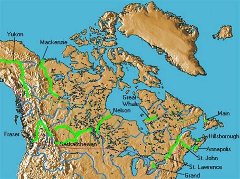canadian map rivers discover canada s rivers
