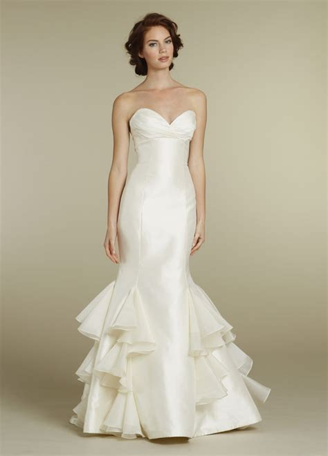 keely bridal mikado trumpet gown strapless sweetheart