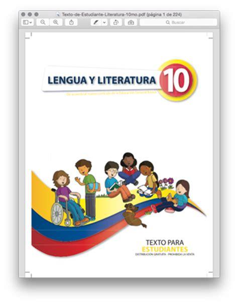 libro novedad 2011 lengua y libro de lengua y literatura 10 pdf ministerio de educaci 243 n foros ecuador 2018