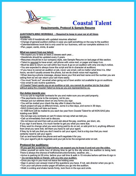 audition resume template learning to write an resume
