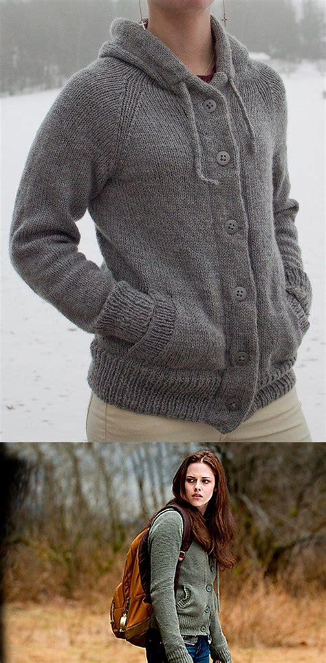 pattern hooded cardigan free knitting pattern for twilight new moon bella hooded