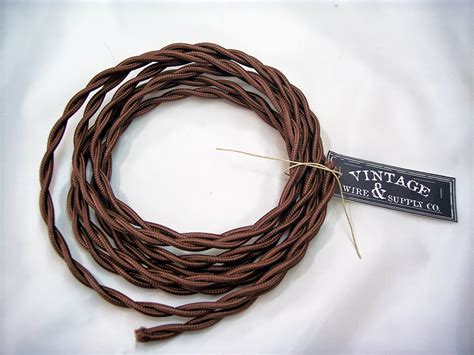 brown cloth covered wire 7 ft antique style l cord