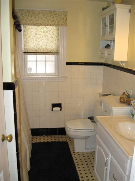 60s Bathroom Remodel by Decorate Home 1950 1950s Original Black White Tile