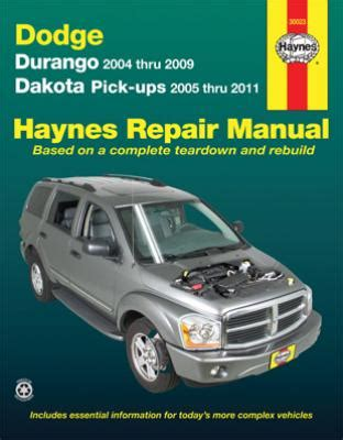 automotive service manuals 2005 dodge dakota on board diagnostic system 2004 2009 dodge durango 05 11 dakota pick ups haynes repair manual