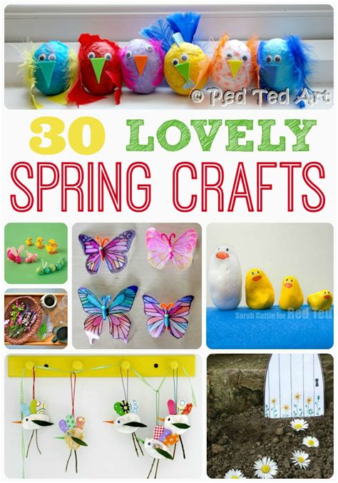 spring projects spring crafts activities for kids red ted art s blog