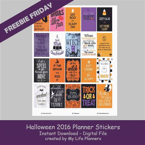 free printable halloween planner stickers freebie friday october 7 2016 my life planners