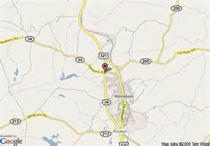 map of winnsboro days inn winnsboro