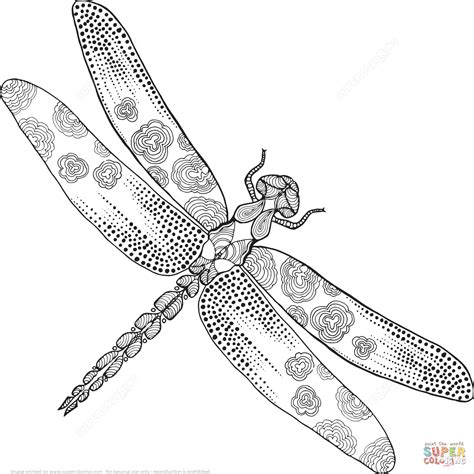 dragonfly coloring page zentangle dragonfly coloring page free printable