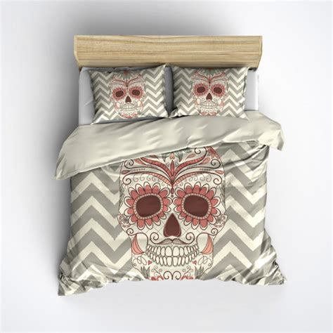 featherweight skull bedding chevron sugar skull by