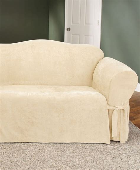 sure fit soft faux suede loveseat slipcover shops