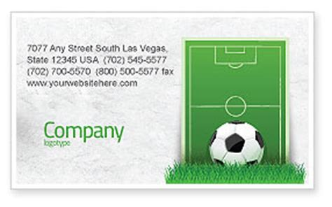 Soccer Business Card Templates Free by European Football Field Business Card Template Layout