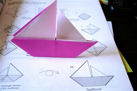Sail Boat Origami - origami boat flickr photo