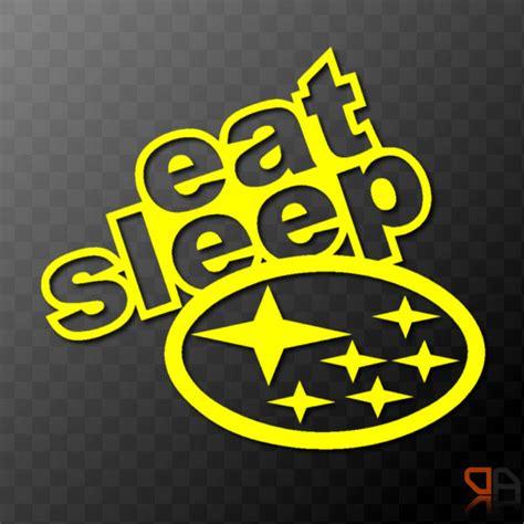 subaru wrx logo eat subaru vinyl decal sticker with subaru logo