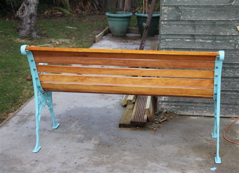 trial bench how to restore a cast iron bench by new wood and painting