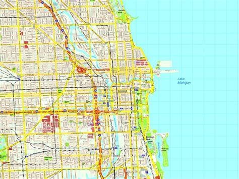 chicago city map usa chicago map eps illustrator vector city maps usa america