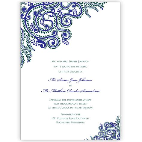 printable invitation cards for wedding printable vines indian wedding invitations digital files