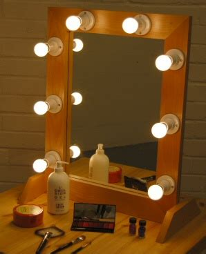 dressing room mirror with lights make up mirror hire