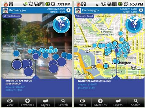 reality apps android augmented reality iphone android app tracks where government bailout dollars went