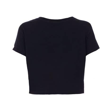 Basic Crop Shirt Womens Black Basic Crop T Shirt