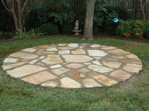Round Stone Patio Valley View Landscaping Sanger Valley View Landscaping