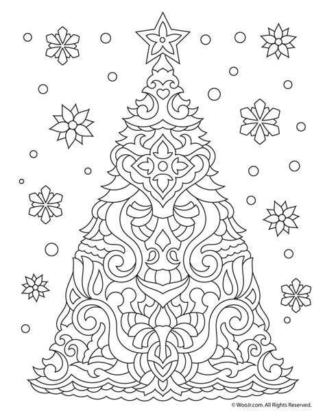 christmas coloring pages for young adults christmas tree adult coloring page woo jr kids activities