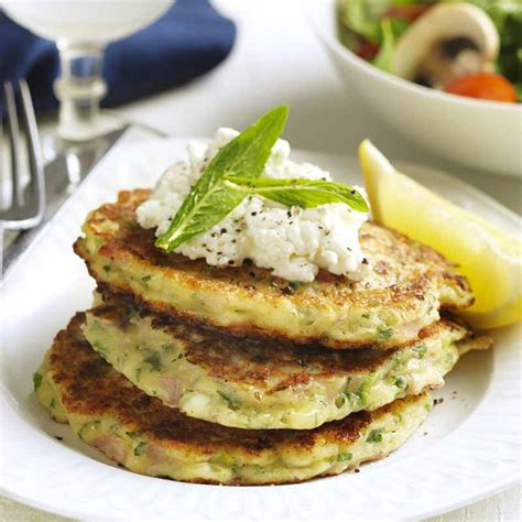 cottage cheese healthy recipes ham herb and cottage cheese fritters healthy recipe